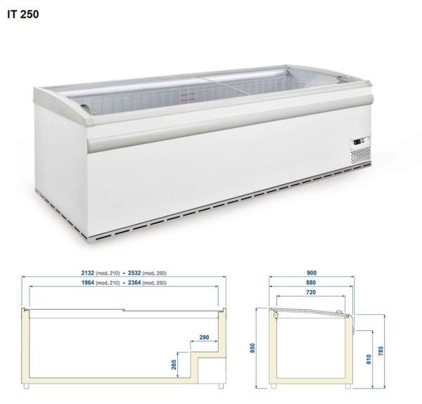 IT 250 pakasteallas / kylmäallas