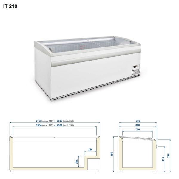 IT 210 pakasteallas / kylmäallas
